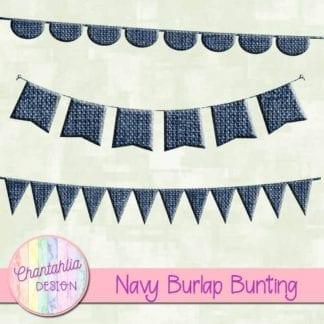 free navy burlap bunting