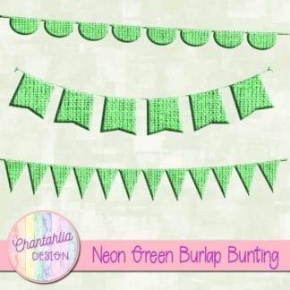 free neon green burlap bunting