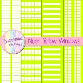 free neon yellow windows digital papers