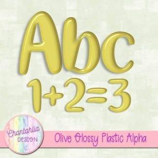 free olive glossy plastic alpha