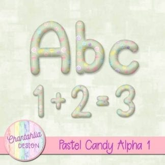 free alpha in a pastel candy design