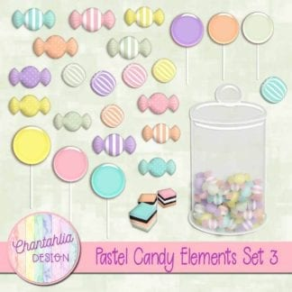 free pastel candy design elements