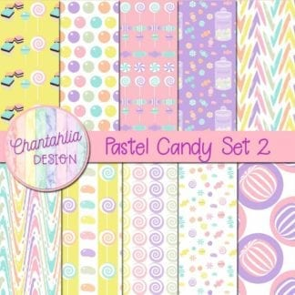 free pastel candy digital papers