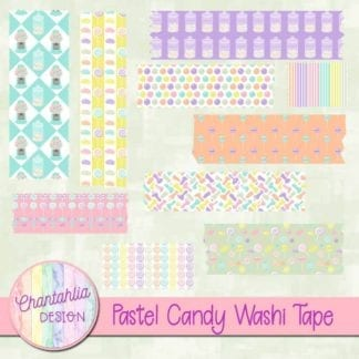 free pastel candy washi tape