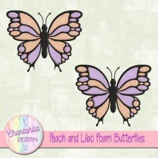 free peach and lilac butterflies