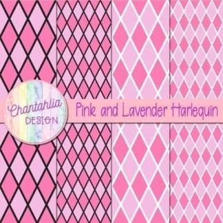 free pink and lavender harlequin digital papers