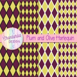 free plum and olive harlequin digital papers