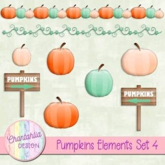 free pumpkins design elements