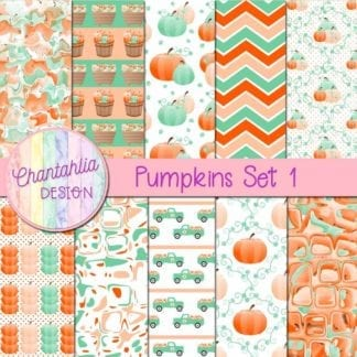 free pumpkin digital papers