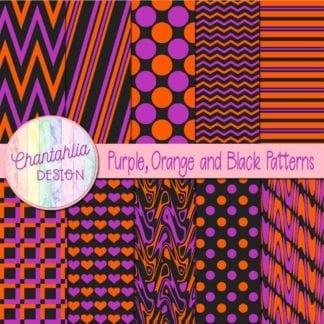 free purple orange and black patterns