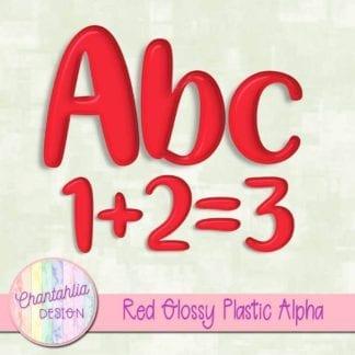 free red glossy plastic alpha