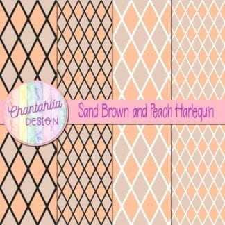 free sand brown and peach harlequin digital papers
