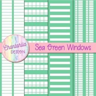 free sea green windows digital papers