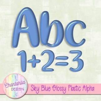 free sky blue glossy plastic