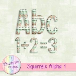 free squirrels scrapbook alpha