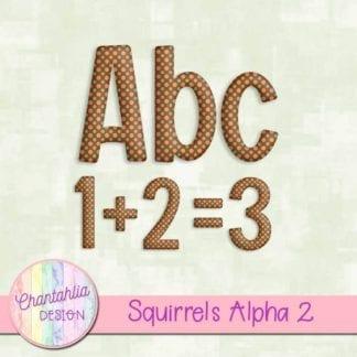 free squirrels polka dot alpha
