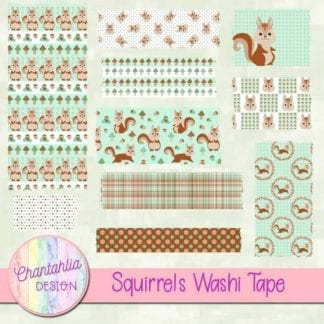 free squirrels washi tape