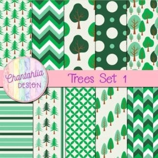 free digital papers featuring trees