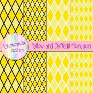 free yellow and daffodil harlequin digital papers