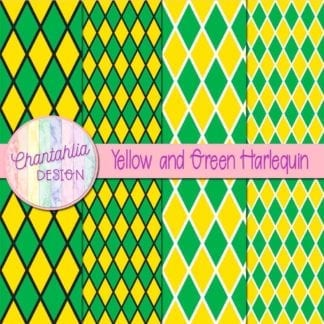 free yellow and green harlequin digital papers