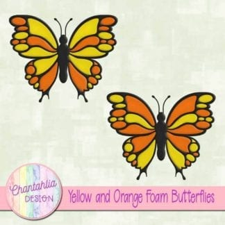 free yellow and orange foam butterflies