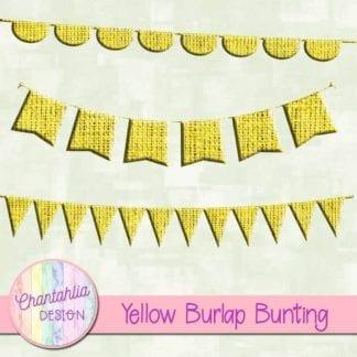 free yellow burlap bunting