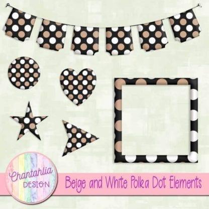 beige and white polka dot element