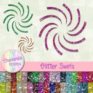 free glitter swirls design elements
