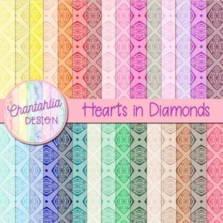 digital papers with diamond design