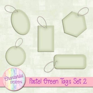 pastel green tags
