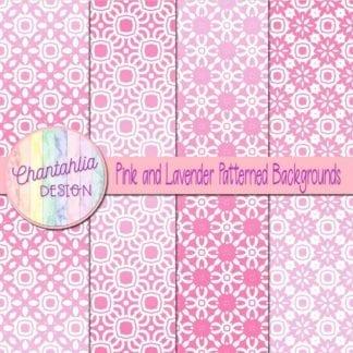 free pink and lavender patterned digital paper backgrounds