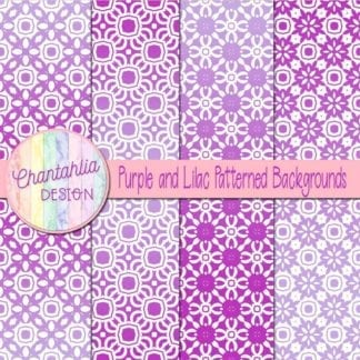 free purple and lilac patterned digital paper backgrounds
