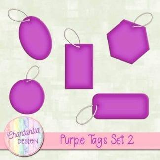 purple tags