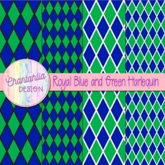 free blue and green harlequin digital papers