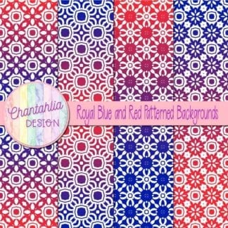 free blue and red patterned digital paper backgrounds