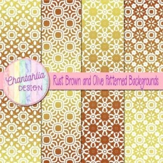 free brown and olive patterned digital paper backgrounds