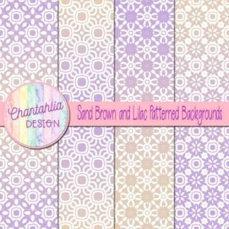 free sand brown and lilac patterned digital paper backgrounds