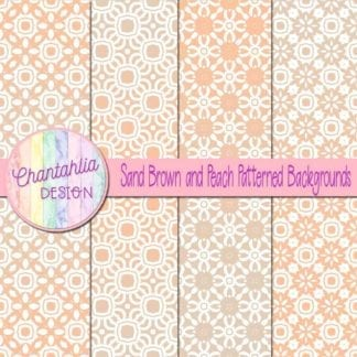 free sand brown and peach patterned digital paper backgrounds