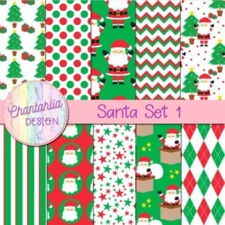 santa digital papers