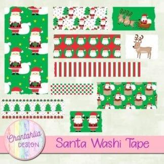 santa washi tape
