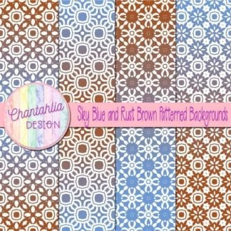 free blue and brown patterned digital paper backgrounds