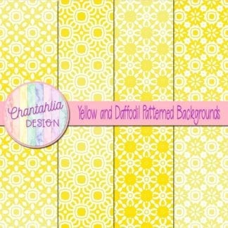 free yellow patterned digital paper backgrounds