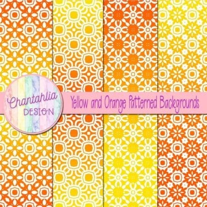 free yellow and orange patterned digital paper backgrounds