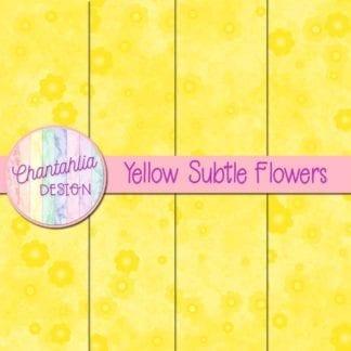 free subtle flowers digital papers