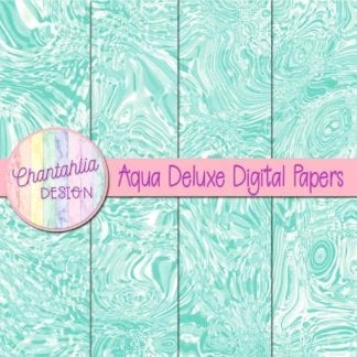 aqua deluxe digital papers