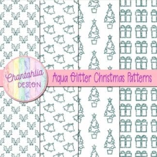 aqua glitter christmas patterns
