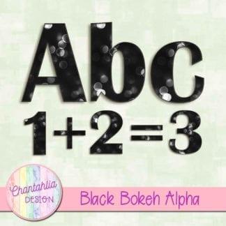 black bokeh alpha