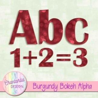 burgundy bokeh alpha
