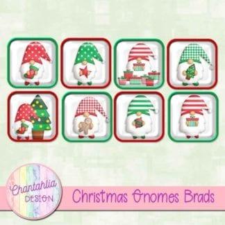 Free christmas gnomes brads