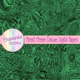 forest green deluxe digital papers